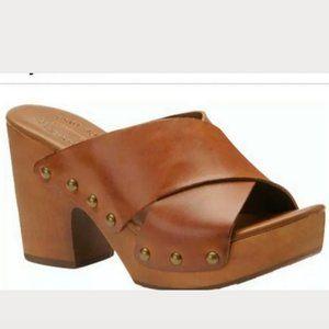 Kork-Ease Gabi Platform Leather Sandal Size 10